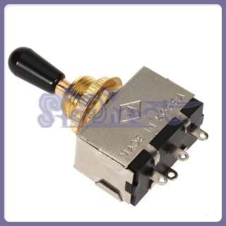 HIGH QUALITY 3 way Gold Box Toggle Switch Black Cap for Les Paul