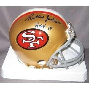 Rickey Jackson Autographed/Hand Signed 49ersMini Helmet w/ HOF