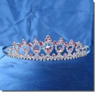 Bridal Wedding Crown Veil Pageant Homecoming Prom Crystal Tiara 4346P5