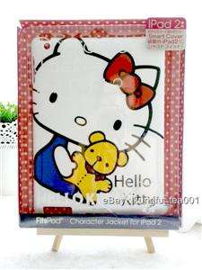 Sanrio Hello Kitty + Bear iPad 2 Hard Case Sleeve Cover FitsPod Japan
