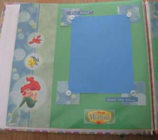 Disney Little Mermaid Princess Ariel Scrapbook Pages