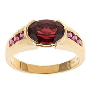 Dyach  10k Yellow Gold Rhodolite Garnet Fashion Ring Jewelry