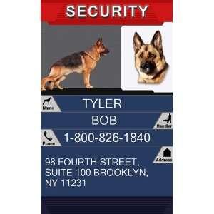 SECURITY Badge   1 Dogs Custom ID Badge   Design#1