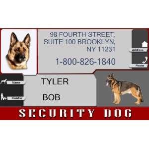 SECURITY DOG Badge   1 Dogs Custom ID Badge   Design#3