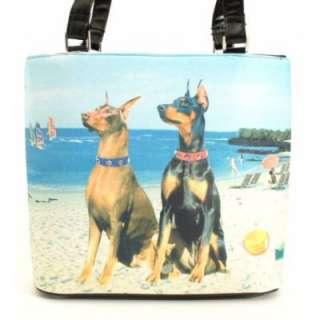 Doberman Pinscher Dog Purse Handbag Bucket Hand Bag NEW