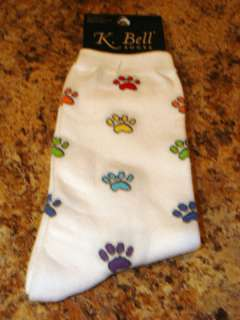 DOG PAW PRINTS K. BELL SOCKS