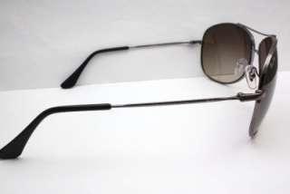 New Ray Ban Aviator Gun Metal Sunglasses Gradient Lens 63mm RB3293 004