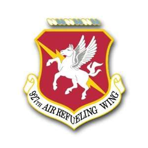 US Air Force 927th Air Refueling Wing Decal Sticker 3.8 6