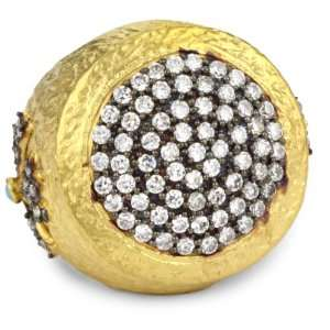 Heritage Collection 22k Gold Plated Pave Ring, Size 8 Jewelry