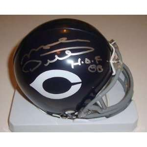 Mike Ditka Signed Mini Helmet w/COA 1985 Chicago Bears