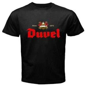 Duvel Beer Logo New Black T shirt Size 2XL