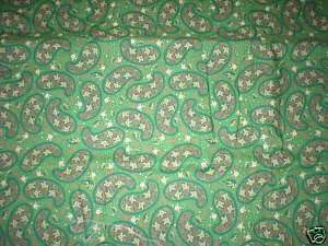 Quilting Around The House   Green Paisley