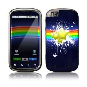 Rainbow Stars Decorative Skin Decal Sticker for Motorola