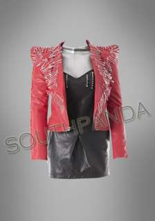 SC263 Red Pin Unique Psychobilly Punk Lady Jackets Coats Popular