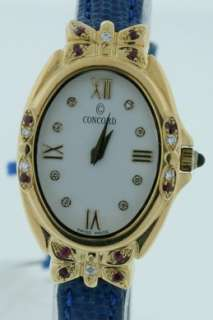 Concord Papillon, NEW 18k Gold, Diamond and Ruby Watch