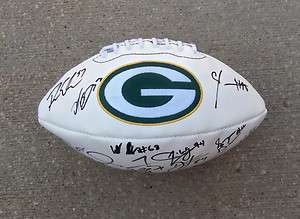 GREENBAY PACKERS Team Signed Autographed FOOTBALL COA PROOF