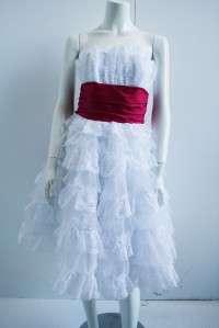 NEW Designer Betsey Johnson White Tea Prom Dress 2