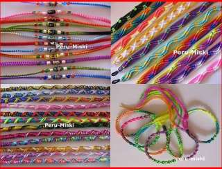 1000 FRIENDSHIP BRACELETS HANDMADE IN PERU Mixed designs, Colors