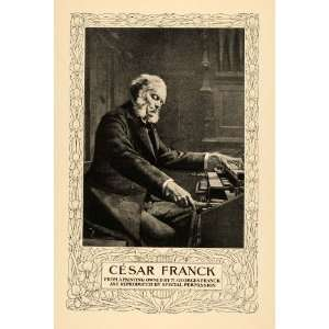 1902 Print Cesar Auguste Franck Composer Piano Player