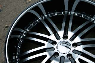 MENZARI Z08 22 BLACK RIMS WHEELS DODGE CHARGER V6 HEMI