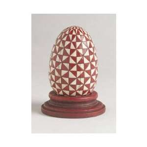 JIM SHORE ST/BURGANDY/WHITE EGG WITH BLUE BASE Home