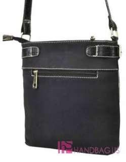 DE LIS Studded Applique SNAKESKIN Messenger Bag Purse Black