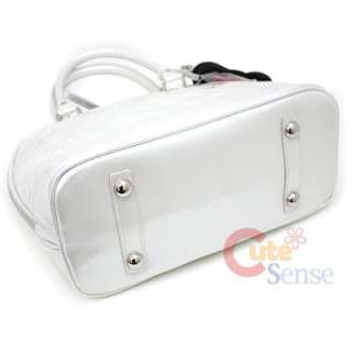 Sanrio Hello Kitty Ivory Embossed Hand Bag Pearl White Loungefly