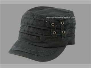 COTTON WAFFALO CADET MILITARY GOLF SUN CAP HAT