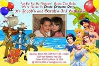 PRINCESS PIRATE MERMAID POOL BIRTHDAY PARTY INVITATION