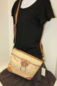 ETIENNE AIGNER LOGO CORE Multi Camel Handbag Tote Shoulder Bag