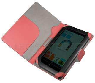 NOOK COLOR PEACH PINK LEATHER CASE COVER