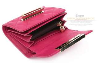 Womens Genuine Leather Trifold Wallet Coin Purse LR US
