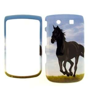 Premium   AT&T BLACKBERRY TORCH 9800 HORSE COVER CASE   Faceplate