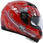 PGR Royal Red Dual Visor Full Face Motorcycle Helmet Biker Street DOT
