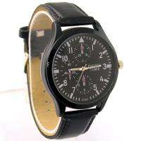 New Black Fashion Mens Man Teenagers Quartz Wrist Watch, LXD