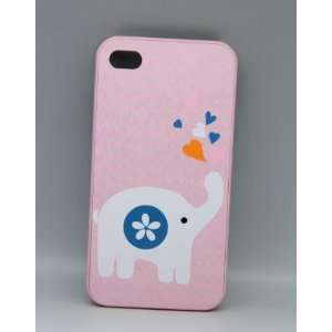 Cute Animal Korea Hard Case Cover for Iphone 4 4gs Pink