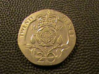 Great Britain United Kingdom 20 pence 1982