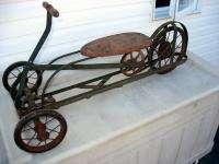 Pedal Toy Irish Mail Ride On Push Pull Cart Motorcycle Style Spoke