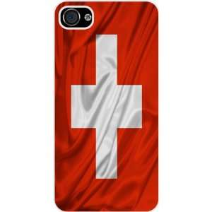 Rikki KnightTM Switzerland Flag White Hard Case Cover for