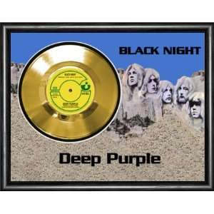 Deep Purple Black Night Framed Gold Record A3 Musical Instruments