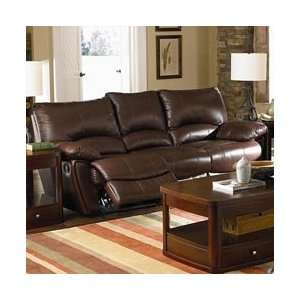 Clifford Brown Leather Double Reclining Sofa by Coaster   Warm Brown
