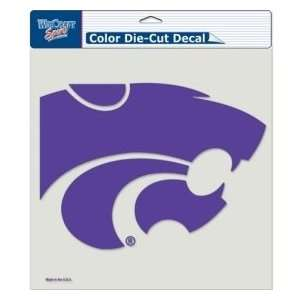 Kansas State Wildcats Die Cut Decal   8x8 Color