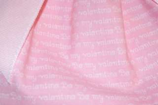 BE MY VALENTINE PINK VALENTINE DOG DRESS   fully lined  SMALL