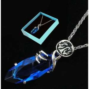 Final Fantasy X Blue Stone Necklace Pendant Cosplay Toys