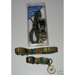 Dallas Stars Pet Accessories Set   Medium (6 Leash, Collar, and ID
