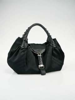 Fendi Black Satin Spy Bag