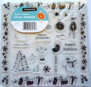 Clear Stamp Set ~TIS THE SEASON~ by FISKARS