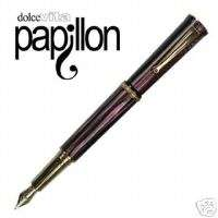 Delta Papillon Red Broad Point Fountain Pen