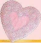 BROOKLACE FANCY LACE 10 PASTEL PINK ROUND PAPER DOILIES DOYLE DOILEY