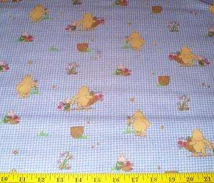 Classic Winnie the Pooh Piglet Flannel Fabric 2.75 yds Cotton Blue